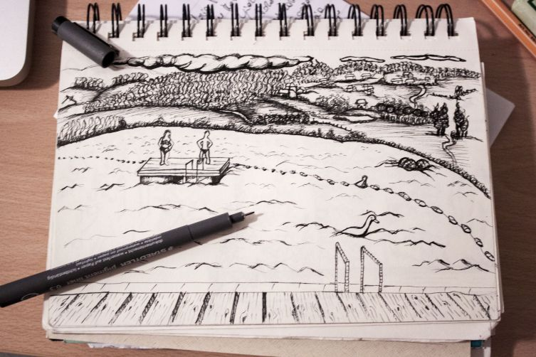 My first drawing in Velenje