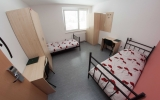 twin bed, shared facilities