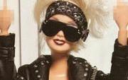 Barbie doll doing rock'n'roll