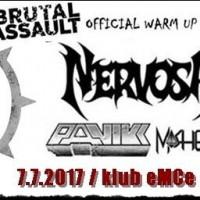 Nervosa, Panikk, Moshead-Official Brutal Assault warm up