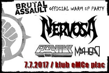 Nervosa, Panikk, Moshead-Official Brutal Assault warm up